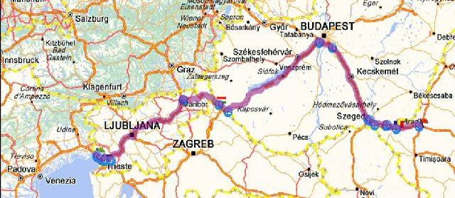 Harta Traseu Romania Croatia Harta